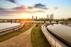 污水处理厂 免版税图库摄影