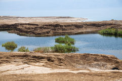 污水池在死海 库存图片
