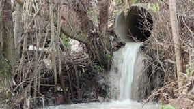 污水污染管子 影视素材
