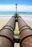 污水管子 免版税库存照片