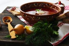 汤乌克兰人膳食 免版税库存照片