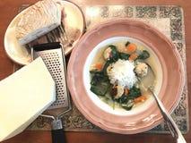 汤作为膳食 免版税图库摄影