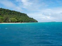 汤加群岛海岸线 库存照片