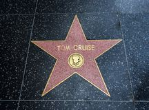 汤姆・克鲁斯` s星,好莱坞星光大道- 2017年8月11日, -好莱坞大道,洛杉矶,加利福尼亚,加州 库存图片