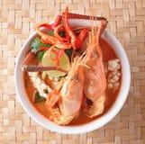 汤姆海鲜汤,泰国食物 库存图片