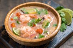 汤姆薯类kong汤 泰国的食物 免版税库存图片