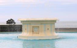 汤姆・柏加喷泉,纳皮尔,新西兰 免版税图库摄影