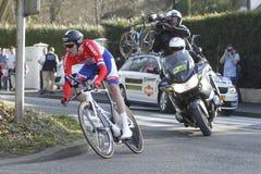 汤姆Dumoulin骑自行车者荷兰语 免版税图库摄影