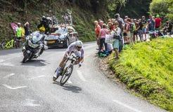 汤姆Dumoulin -环法自行车赛2018年 免版税库存图片