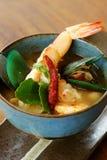 汤姆Yum Goong,泰国食物。 免版税库存图片