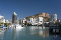 汤斯维尔小游艇船坞在昆士兰,澳大利亚 库存照片