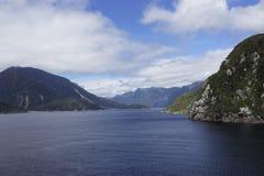 汤普森声音,新西兰fiordland 免版税图库摄影