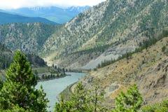 汤普森河谷,不列颠哥伦比亚省,加拿大01 图库摄影