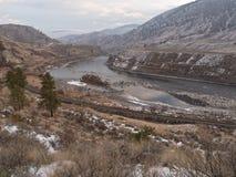 汤普森河 库存图片