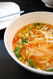 汤样式泰国汤姆素食主义者薯类 免版税库存照片