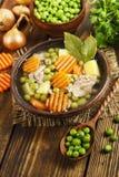 汤用绿豆和肉 免版税图库摄影