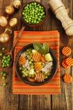 汤用绿豆和肉 库存照片
