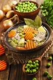 汤用绿豆和肉 免版税库存照片