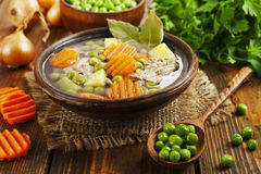 汤用绿豆和肉 库存图片