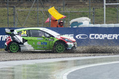 汤米RUSTAD 巴塞罗那FIA世界Rallycross 免版税库存图片