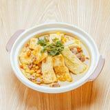 汤豆腐瓷食物 免版税库存图片