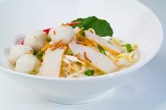 汤面。 亚洲食物 库存图片