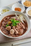 汤面泰国样式 免版税库存图片