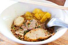 汤面用猪肉。 库存图片
