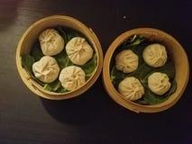 汤饺子 库存图片