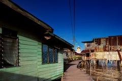 汶莱的首都著名的水村庄  图库摄影