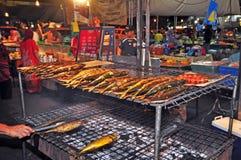汶莱首都便宜的市场 免版税图库摄影
