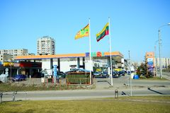 汽油发行公司EMSI驻地在维尔纽斯市 库存照片