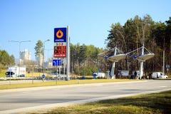 汽油发行公司Statoil驻地在维尔纽斯市 免版税图库摄影