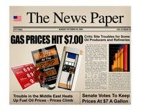 汽油标题价格 免版税库存图片