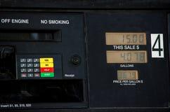汽油的价格在美国 免版税库存照片