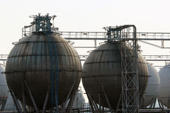 汽油精炼厂存贮特性 库存图片