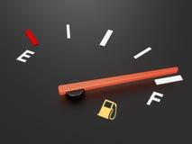 汽油表 库存例证