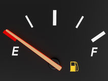 汽油表 皇族释放例证