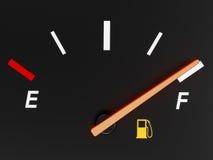汽油表 免版税库存照片