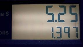汽油价格,气泵,能量,数字 股票录像