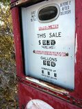 汽油价格 免版税库存图片