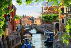 汽艇在威尼斯 免版税库存照片