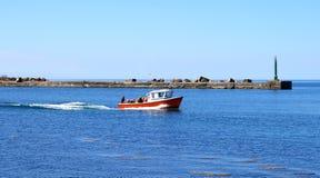 汽艇散步红色 库存图片