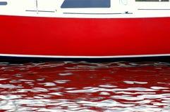 汽艇红色摘要 免版税库存照片