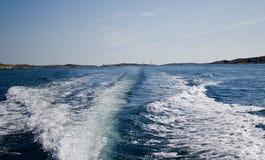 汽艇飞溅 图库摄影