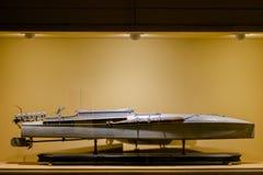 汽艇鱼雷军队快艇加州的模型 1918年,阿尔塔雷della帕特里亚,罗马,意大利 免版税库存照片