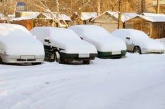 汽车下雪下 图库摄影