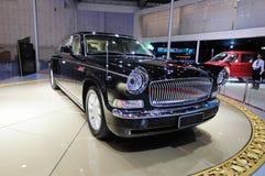 汽车主席中国hongqi hqe大型高级轿车游行 免版税图库摄影