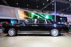 汽车主席中国hongqi hqe大型高级轿车游行 免版税库存照片