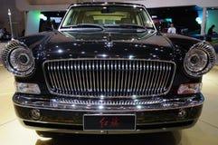 汽车主席中国hongqi hqe大型高级轿车游行 免版税库存图片